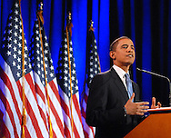 PHILADELPHIA - MARCH 18: Democratic Presidential candidate Sen. Barack Obama (D-Il) makes remarks during a major address on race, politics, and how we bring our country together at this important moment in our history March 18, 2008 at the National Constitution Center in Philadelphia, Pennsylvania. (Photo by William Thomas Cain/Getty Images)