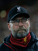 Football - 2019 / 2020 UEFA Champions League - Group E: Liverpool vs. Napoli<br /> <br /> Liverpool manager Jurgen Klopp, at Anfield.<br /> <br /> COLORSPORT/ALAN MARTIN