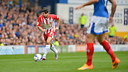 Piero Mingoia during the Sky Bet League 2 match between Portsmouth and Accrington Stanley at Fratton Park, Portsmouth, England on 5 September 2015. Photo by Adam Rivers.