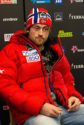 Petter Northug at press conference of Norwegian team one day before FIS Cross Country World Cup Rogla 2011, on December 16, 2011 at Hotel Planja, Rogla, Slovenia. (Photo By Vid Ponikvar / Sportida.com)