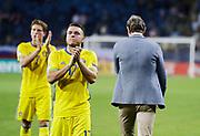LUBLIN, POLAND - 2017-06-22: H&aring;kan Ericson tackar fansen och l&auml;mnar planen efter UEFA U21 matchen mellan Slovakien och Sverige p&aring;  Arena Lublin den 22 juni, 2017 i Lublin, Polen. <br /> Foto: Nils Petter Nilsson/Ombrello<br /> Fri anv&auml;ndning f&ouml;r kunder som k&ouml;pt U21-paketet.<br /> Annars Betalbild.<br /> ***BETALBILD***