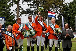 Team Netherlands, Rob Ehrens, Wout Jan Van der Schans, Leopold van Asten, Jur Vrieling, Willem Greve, (NED)<br /> Furusiyya FEI Nations Cup presented by Longines<br /> © Hippo Foto - Dirk Caremans<br /> 13/05/16