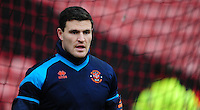 Blackpool's Kyle Letheren during the pre-match warm-up <br /> <br /> Photographer Chris Vaughan/CameraSport<br /> <br /> Football - The Football League Sky Bet League One - Barnsley v Blackpool - Monday 28th December 2015 - Oakwell Stadium - Barnsley   <br /> <br /> © CameraSport - 43 Linden Ave. Countesthorpe. Leicester. England. LE8 5PG - Tel: +44 (0) 116 277 4147 - admin@camerasport.com - www.camerasport.com