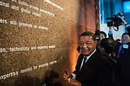 20.10.2018. Copenhagen, Denmark.  <br /> President of Ethiopia HE Mulatu Teshome signing of the Copenhagen Commitment as a way to accelerate action, partnerships and solutions, during the P4G Copenhagen Summit 2018 in The Danish Radio Concert Hall.<br /> Photo: © Ricardo Ramirez