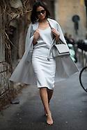 Gray Dress and Coat, Outside Max Mara
