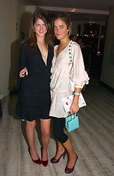 Left to right PRINCESS FLORENCE VON PREUSSEN and VIOLET VON WESTENHOLTZ at a private screening of 'Sketches of Frank Gehry in association with jewellers Tiffany held at the Curzon Cinema, Mayfair on 10th May 2006 followed by a party at Nobu Mayfair, Berkeley Street.<br />
