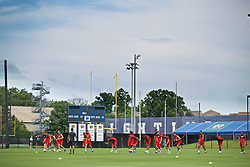 SOUTH BEND, INDIANA, USA - Thursday, July 18, 2019: Liverpool players during a training session ahead of the friendly match against Borussia Dortmund at the Notre Dame Stadium on day three of the club's pre-season tour of America. (Pic by David Rawcliffe/Propaganda)