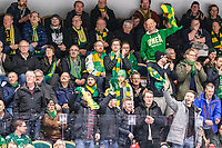 2020-01-17 | Umeå, Sweden:Happy supporters in HockeyAllsvenskan during the game  between Björklöven and Timrå at A3 Arena ( Photo by: Michael Lundström | Swe Press Photo )<br /> <br /> Keywords: Umeå, Hockey, HockeyAllsvenskan, A3 Arena, Björklöven, Timrå, mlbt200117