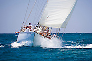 Lone Fox sailing  the Butterfly Race at the Antigua Classic Yacht Regatta.