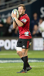 Crusaders' Mitchell Hunt issues instructions against the Highlanders in the Super Rugby match, Forsyth Barr Stadium, Dunedin, New Zealand, Saturday, March 17, 2018. Credit:SNPA / Adam Binns ** NO ARCHIVING**