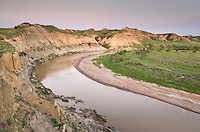 Dusk over the Little Missouri River, Theodore Rossevelt National Park, North Dakota