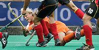 TERRASSA -Floris Evers probeert vallen te scoren,  donderdag tijdens de Champions Trophy wedstrijd Nederland-Duitsland in Terrassa, Spanje. ANP PHOTO KOEN SUYK