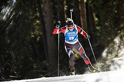 Baiba Bendika (LAT) during the Women 15 km Individual Competition at day 2 of IBU Biathlon World Cup 2019/20 Pokljuka, on January 23, 2020 in Rudno polje, Pokljuka, Pokljuka, Slovenia. Photo by Peter Podobnik / Sportida