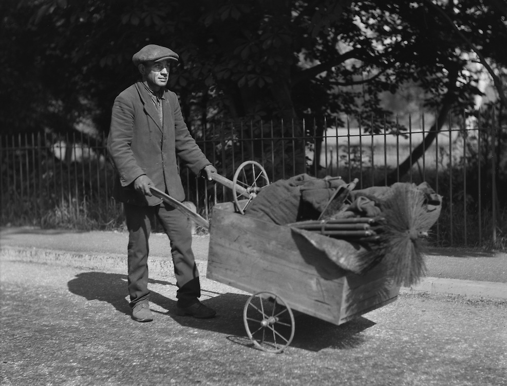"Chimney Sweep, ""King's Highway"", Kent, ENgland, 1932"