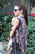 01.OCTOBER.2011. PARIS<br /> <br /> MODEL MIRANDA KERR AND BABY FLYNN LEAVE THEIR HOTEL FOR A WALK IN PARIS, DURING FASHION WEEK<br /> <br /> BYLINE: EDBIMAGEARCHIVE.COM<br /> <br /> *THIS IMAGE IS STRICTLY FOR UK NEWSPAPERS AND MAGAZINES ONLY*<br /> *FOR WORLD WIDE SALES AND WEB USE PLEASE CONTACT EDBIMAGEARCHIVE - 0208 954 5968*