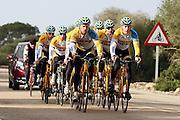 SPAIN / SPANJE / MALLORCA / CYCLING / WIELRENNEN / CYCLISME / CYCLOCROSS / VELDRIJDEN / TELENET FIDEA CYCLING TEAM / WINTERSTAGE / TRAINING CAMP / (L-R) TOM MEEUSEN / JENS VANDEKINDEREN / THIJS AL / BART WELLENS / BEN BOETS /