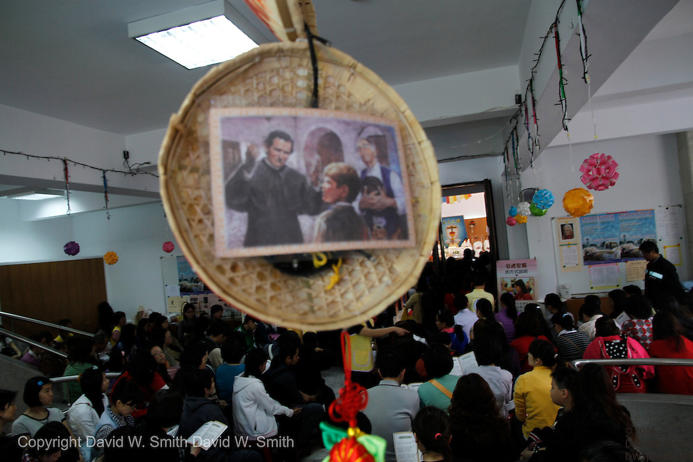 Pilgrims from around Taiwan converged to St. John Bosco parish in Taipei to see a relic from the order's founder St. John Bosco.
