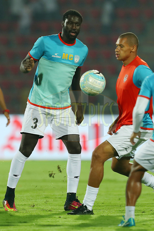 Mamadu Samba CAND&Eacute; of Northeast United FC during match 19 of the Hero Indian Super League between NorthEast United FC and Bengaluru FC held at the Indira Gandhi Athletic Stadium, Guwahati India on the 8th December 2017<br /> <br /> Photo by: Ron Gaunt / ISL / SPORTZPICS