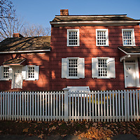 "The Allen House property was first built on between 1670 and 1688 by Quaker Judah Allen. This original structure, however, is no longer standing, and its location is unknown. In the early 1700s, the property passed into the hands of New York City merchant Richard Stillwell, who built the main part of the still standing structure ca. 1740 to be his second home.In 1754, Josiah Halstead, a carpenter, and his first wife Zilpha, purchased the Stillwell property and began operating a tavern, which Halstead dubbed ""The Blue Ball.From this point on, the Blue Ball rapidly changed hands, but continued operation as a tavern by various owners and tenants until 1814, when it was purchased by Dr. Edmund Allen and his business partner Jacob Corlies. Dr. Allen ran both his medical practice and a pharmacy on the ground floor of the building until his death in 1867. Dr. Allen's son Joseph then opened a dry-goods store in the building, which operated until 1916. Since then, the house has served several purposes, ranging from a private residence, to tea rooms and antique shops.In 1968, the Monmouth County Historical Association assumed ownership of the Allen House property, a gift of the last owner, Mrs. Henry H. Holmes. After several years of restoration, lasting into the early 1970s, the Allen House was opened to the public, offering a glimpse of the public side of colonial life during the second half of the eighteenth century."