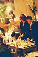 service in the Restaurant Pierre Gagnaire, Paris