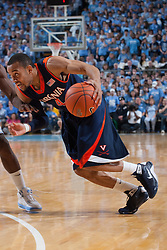 07 February 2009: Virginia Cavaliers guard Calvin Baker (4) during a 76-61 loss to the North Carolina Tar Heels at the Dean Smith Center in Chapel Hill, NC.