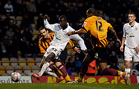 Photo: Jed Wee/Sportsbeat Images.<br /> Bradford City v Hereford United. Coca Cola League 2. 29/12/2007.<br /> <br /> Hereford's Theo Robinson scores the opening goal.