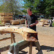Joe envisions a boat framing stock in a raw piece of timber.