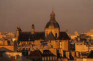 France. Paris. elevated view.  Paris view  from Saint Gervais Saint Protee church