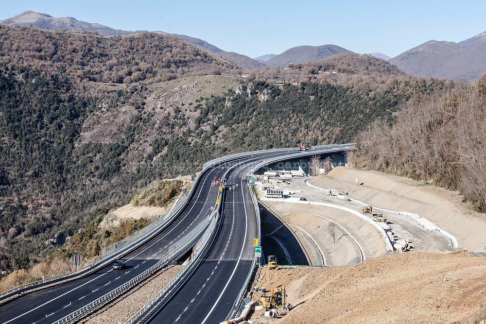 15 December 2016, Italy, Viadotto Italia, Salerno Reggio-Calabria highway.