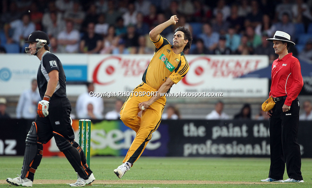 Australian bowler Mitchell Johnson.<br />