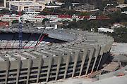 Belo Horizonte_MG, Brasil.<br /> <br /> Imagem aerea da reforma do estadio Governador Magalhaes Pinto, Mineirao, em Belo Horizonte, Minas Gerais.<br /> <br /> Aerial view of  works in Governador Magalhaes Pinto stadium, Mineirao, in Belo Horizonte, Minas Gerais.<br /> <br /> Foto: JOAO MARCOS ROSA / NITRO