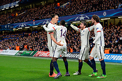 09.03.2016, Stamford Bridge, London, ENG, UEFA CL, FC Chelsea vs Paris Saint Germain, Achtelfinale, Rueckspiel, im Bild ibrahimovic zlatan, matuidi blaise, maxwell scherrer, rabiot adrien // during the UEFA Champions League Round of 16, 2nd Leg match between FC Chelsea vs Paris Saint Germain at the Stamford Bridge in London, Great Britain on 2016/03/09. EXPA Pictures © 2016, PhotoCredit: EXPA/ Pressesports/ MOUNIC ALAIN<br /> <br /> *****ATTENTION - for AUT, SLO, CRO, SRB, BIH, MAZ, POL only*****