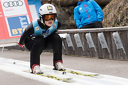 February 8, 2019 - Ljubno, Savinjska, Slovenia - Alexandra Kustova of Russia on first competition day of the FIS Ski Jumping World Cup Ladies Ljubno on February 8, 2019 in Ljubno, Slovenia. (Credit Image: © Rok Rakun/Pacific Press via ZUMA Wire)