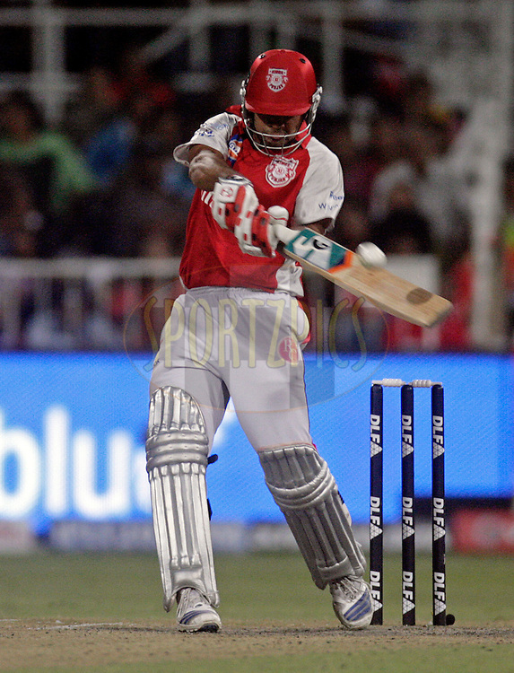 DURBAN, SOUTH AFRICA - 1 May 2009. Karan Goel plays a shot during the IPL Season 2 match between Kings X1 Punjab and the Royal Challengers Bangalore held at Sahara Stadium Kingsmead, Durban, South Africa...