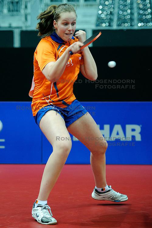 09-05-2011 TAFELTENNIS: WORLD TABLE TENNIS CHAMPIONSHIPS: ROTTERDAM<br /> Suzanne Dieker NED<br /> &copy;2011-FotoHoogendoorn.nl