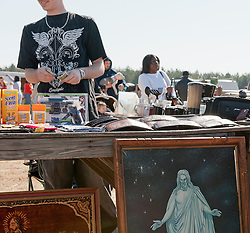 detail of a vendor at the Springfield Flea Market in South Carolina