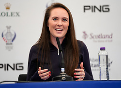 Auchterarder, Scotland, UK. 12 September 2019. Press conference with Team USA players for the 2019 Solheim Cup. Pictured; Brittany Altomare. Iain Masterton/Alamy Live News