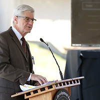 Gov. Phil Bryant annouces the expansion of the General Atomics facility in Shannon Wednesday morning.