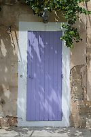 Lavender colored door in Gordes.