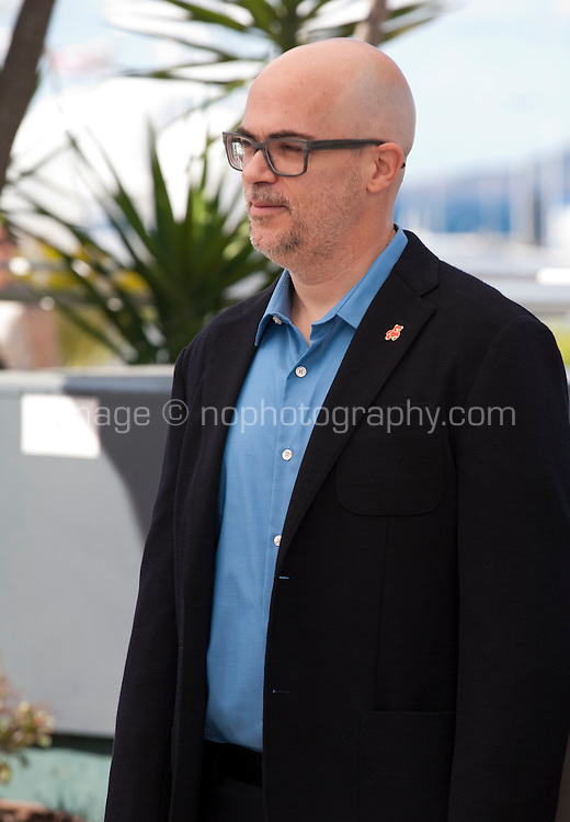 Argentinian director Santiago Loza at the Cinefondation and Short Films Jury photo call at the 69th Cannes Film Festival Thursday 19th May 2016, Cannes, France. Photography: Doreen Kennedy