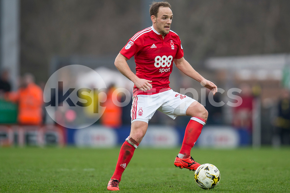David Vaughan of Nottingham Forest during the EFL Sky Bet Championship match between Burton Albion and Nottingham Forest at the Pirelli Stadium, Burton upon Trent, England on 11 March 2017. Photo by Matthew Buchan.