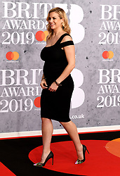 February 21, 2019 - London, London, United Kingdom - Image licensed to i-Images Picture Agency. 20/02/2019. London, United Kingdom. Pregnant Gemma Atkinson  at the Brit Awards in London. (Credit Image: © i-Images via ZUMA Press)