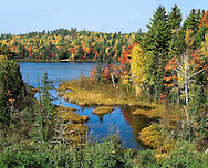 The Colorful Autumn Foliage At Rock Lake Near Ishpeming Michigan In The Upper Peninsula, USA : Low Res File - 8X10 To 11X14 Or Smaller, Larger If Viewed From A Distance