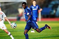 Fotball<br /> Tippeligaen<br /> Nadderud 30.03.14<br /> Stabæk - Sogndal<br /> Enock Adu<br /> Foto: Eirik Førde