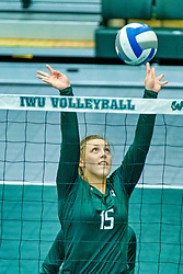 BLOOMINGTON, IL - August 24: Dana Kiszkowski during  the IWU Titans Women<br /> s Volleyball Green-White scrimmage on August 24 2019 at Shirk Center in Bloomington, IL. (Photo by Alan Look)