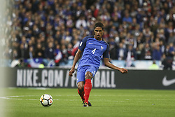 October 10, 2017 - Paris, France - Raphael Varane 4  during the Fifa 2018 World Cup qualifying match between France and Belarus on October 10, 2017 in Paris, France. (Credit Image: © Elyxandro Cegarra/NurPhoto via ZUMA Press)