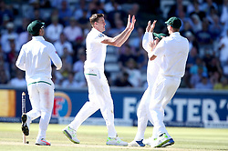 Morne Morkel of South Africa celebrates with teammates after taking the wicket of Keaton Jennings of England  - Mandatory by-line: Robbie Stephenson/JMP - 08/07/2017 - CRICKET - Lords - London, United Kingdom - England v South Africa - Investec Test Series