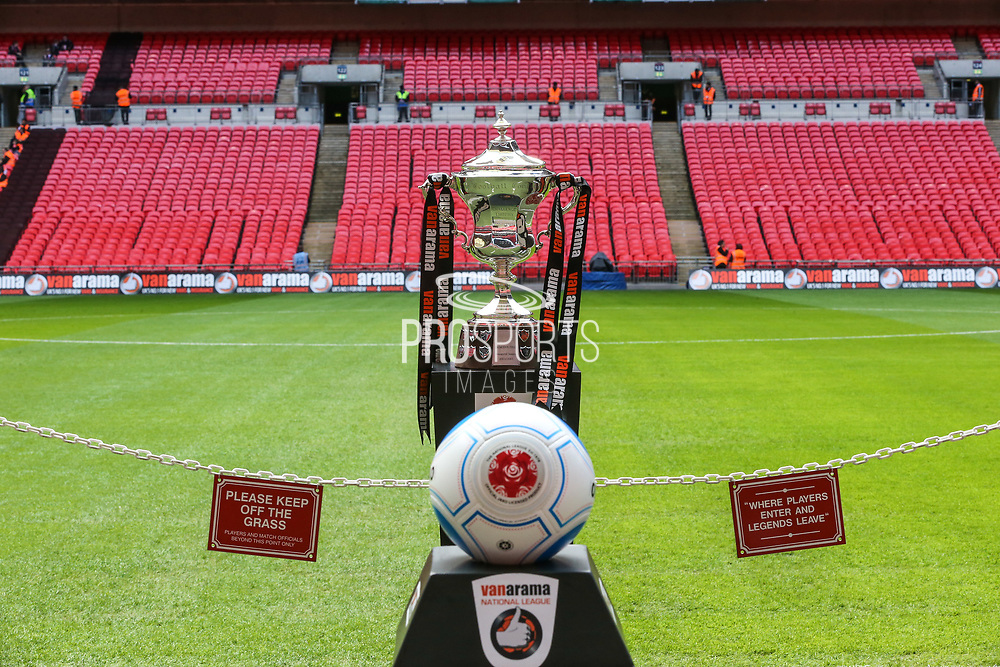 The National League Play Off Trophy during the Vanarama National League Play Off Final match between Tranmere Rovers and Forest Green Rovers at Wembley Stadium, London, England on 14 May 2017. Photo by Shane Healey.