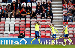 Bradley Johnson of Derby County celebrates after scoring his sides first goal in front of dejected Sunderland fans in a half empty stand  - Mandatory by-line: Matt McNulty/JMP - 04/08/2017 - FOOTBALL - Stadium of Light - Sunderland, England - Sunderland v Derby County - Sky Bet Championship