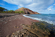 Oneuli Beach, Black Sand Beach, Makena, Maui, Hawaii